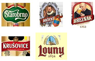 Nabízíme tyto značky piva